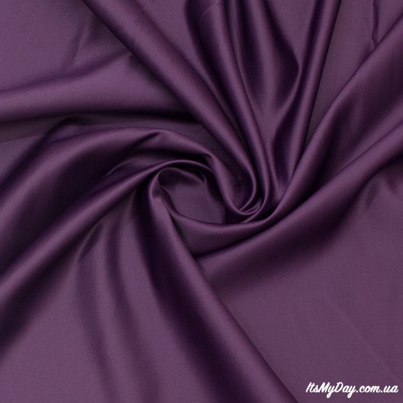 Атлас темно-фиолетовый